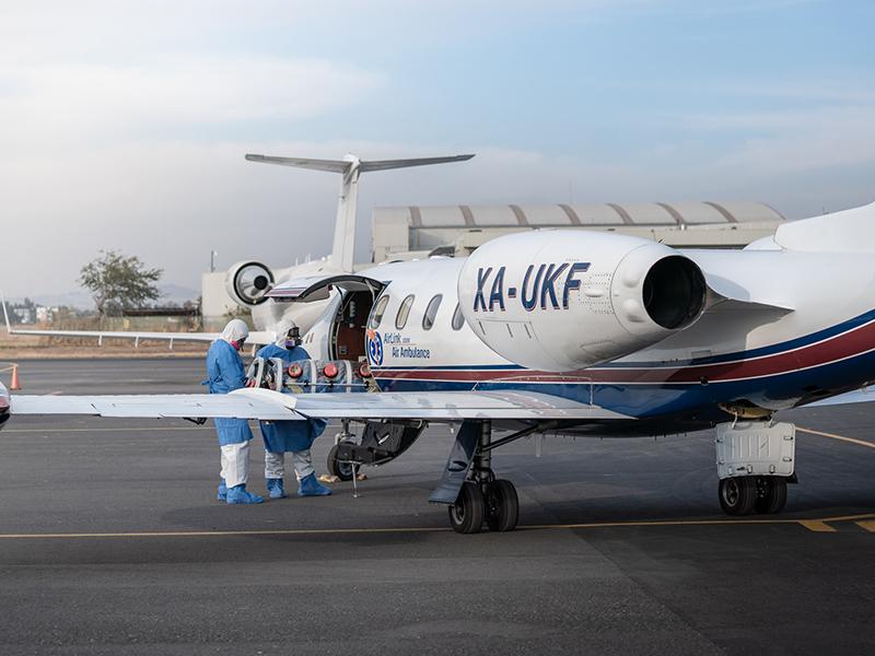 COVID-19 Air ambulance transportation