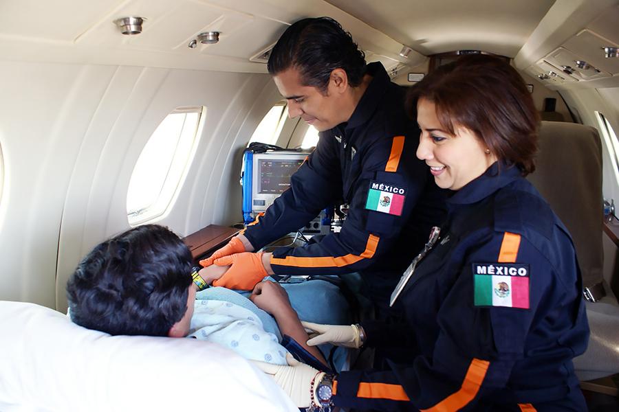 Air ambulance transportation